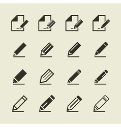 Pencil an icon vector image