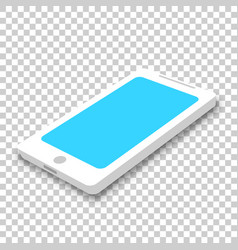 phone icon in isometric style smartphone on vector image