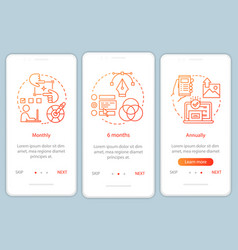 Photo editor subscription onboarding mobile app vector