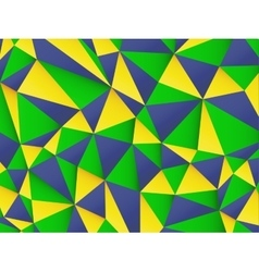 Polygonal background with Brazil flag colors vector