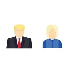 Presidential candidate isolated Icons Election vector