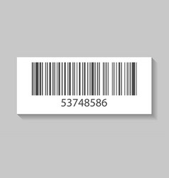 Product barcode isolated icon vector