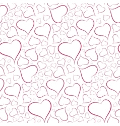 Romantic and sexy background of hearts seamless vector image