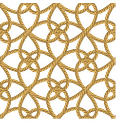 Rope seamless pattern on white background vector