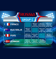 russia world cup group c wallpaper vector image