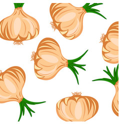 Seamless pattern with hand drawn onions vector