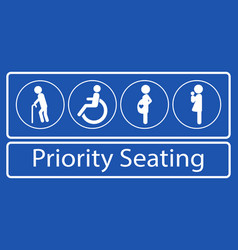 set priority seating sticker or label vector image