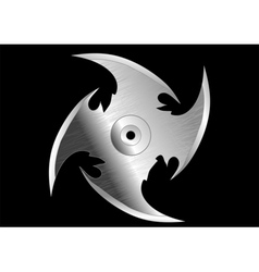 Shuriken throwing knife vector