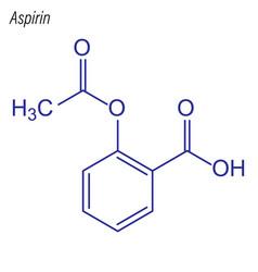 Skeletal formula aspirin drug chemical molecule vector