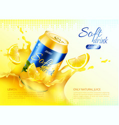 soft drink metal can poster vector image