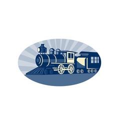 Steam train or locomotive vector image
