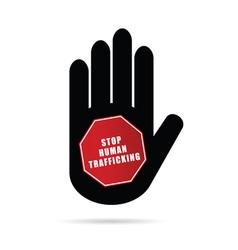 Stop humain trafficking logo vector