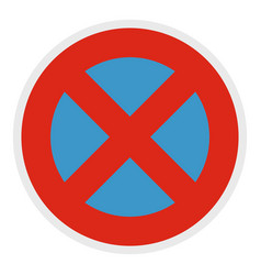 Stop prohibited icon flat style vector