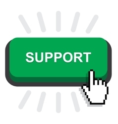 Support button icon vector