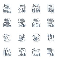 Tax return service refund concept vector