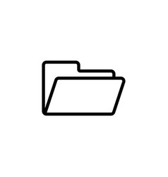 thin line folder icon vector image