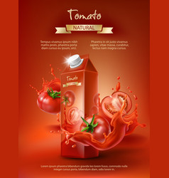Tomato juice ad vector