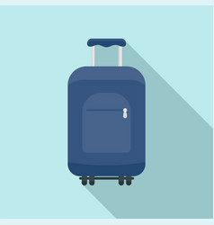 Travel summer bag icon flat style vector