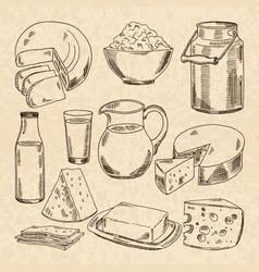 vintage hand drawn yogurt vector image