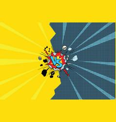 Vs versus comic pop art vector