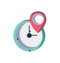 wall clock design with location symbol vector image