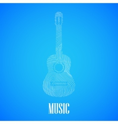 with the guitar shape vector image