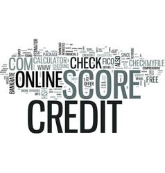 z online credit score text word cloud concept vector image
