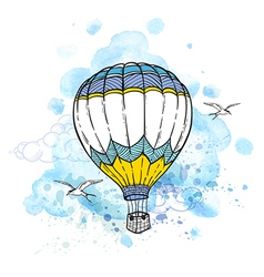 Air balloon flying in the sky vector image vector image