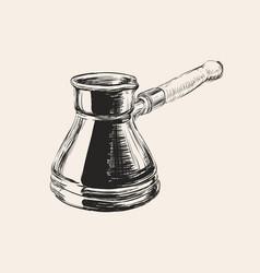 Cezve coffee vector