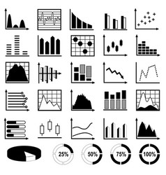 collection of diagrams and charts vector image