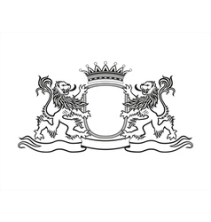 HERALDRY Crest with lions vector image