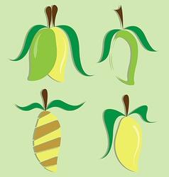 set of mango icon vector image vector image