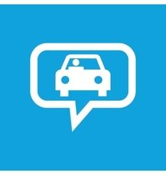 Car message icon vector