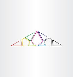 colorful triangle background design element vector image vector image