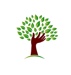 Hand on ecology awareness image vector image