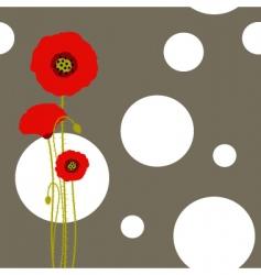 poppy wallpaper vector image