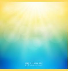summer season sunlight with bokeh in the sky vector image
