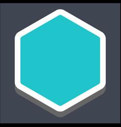 3d flat blank hexagon web button vector image vector image