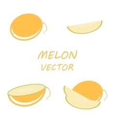 flat melon icons set vector image