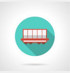 open boxcar blue round icon vector image vector image