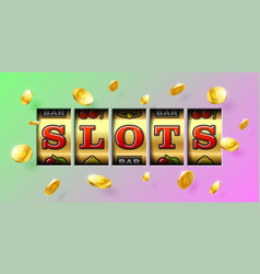slot machine gambling game casino banner vector image