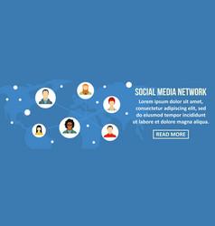 social media network banner horizontal concept vector image vector image
