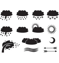 weather symbols vector image