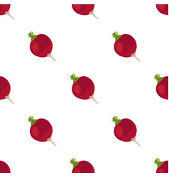 beet seamless pattern natural healthy vegetable vector image