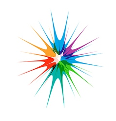 Color Paint Star vector image vector image