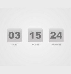 countdown counter timer vector image