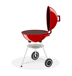 round barbecue grill vector image vector image