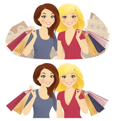 Shopping together vector image