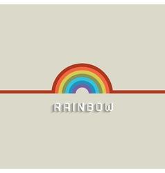 Stylish rainbow design vector