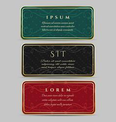 vintage card design set vector image
